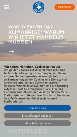 Vorschau der mobilen Webseite www.aerztederwelt.org, Ärzte der Welt e.V.
