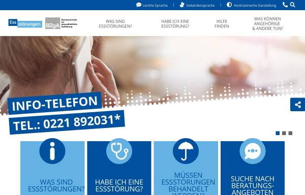 Vorschau von www.bzga-essstoerungen.de, BZgA - Essstörungen