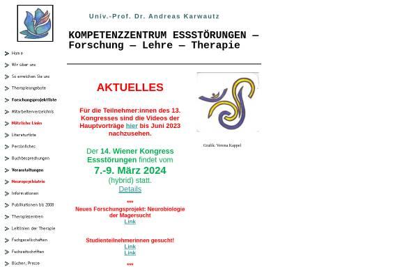 Vorschau von www.ess-stoerung.eu, Europäisches Forschungsprojekt Essstörungen
