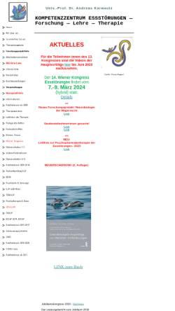 Vorschau der mobilen Webseite www.ess-stoerung.eu, Europäisches Forschungsprojekt Essstörungen