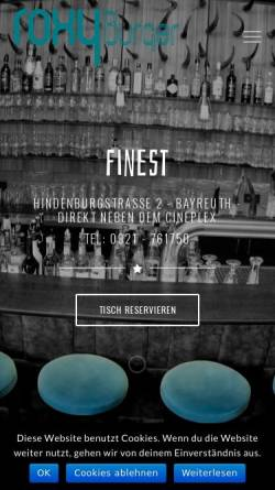 Vorschau der mobilen Webseite www.roxy-bayreuth.de, Roxy