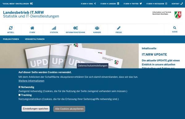 Vorschau von www.it.nrw.de, Information und Technik Nordrhein-Westfalen (IT.NRW)