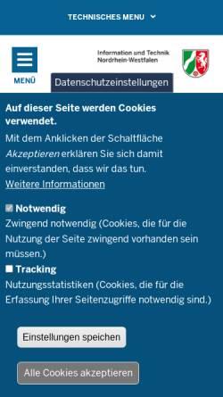 Vorschau der mobilen Webseite www.it.nrw.de, Information und Technik Nordrhein-Westfalen (IT.NRW)
