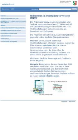 Vorschau der mobilen Webseite webshop.it.nrw.de, Publikationsservice von IT.NRW