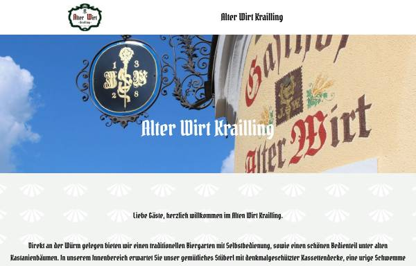 Vorschau von www.alterwirtkrailling.de, Gasthof Alter Wirt