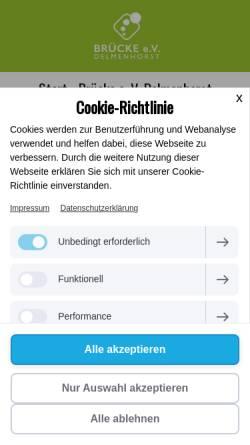 Vorschau der mobilen Webseite www.bruecke-delmenhorst.de, Brücke e. V. Delmenhorst