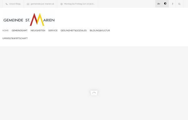Vorschau von www.st-marien.at, Gemeinde St. Marien