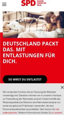 Vorschau der mobilen Webseite www.spd.de, SPD Delmenhorst