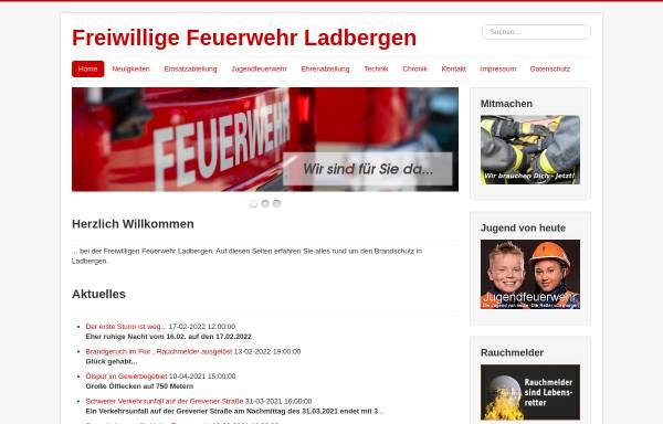 Vorschau von www.feuerwehr-ladbergen.de, Freiwillige Feuerwehr Ladbergen