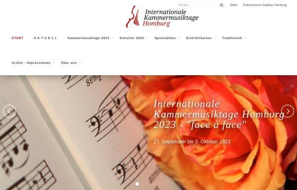 Vorschau von www.kammermusik-homburg.de, Kammermusikfreunde Saar Pfalz e.V.