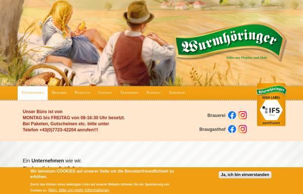 Vorschau von www.wurmhoeringer.at, Privatbrauerei - Gasthaus - Transporte Wumrhöringer