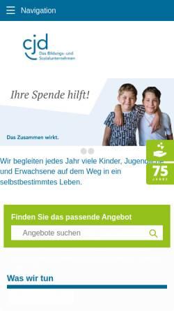 Vorschau der mobilen Webseite www.cjd.de, Christliches Jugenddorfwerk Deutschlands (CJD)