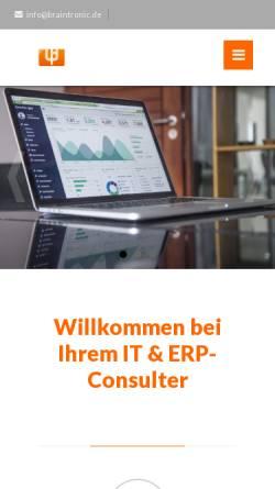 Vorschau der mobilen Webseite www.braintronic.de, Braintronic Software GmbH