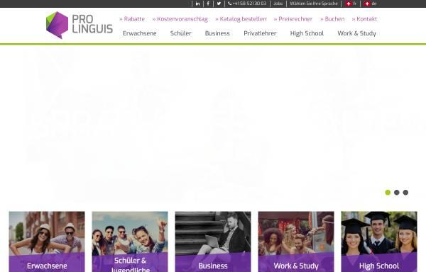 Vorschau von prolinguis.ch, Pro Linguis