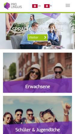 Vorschau der mobilen Webseite prolinguis.ch, Pro Linguis