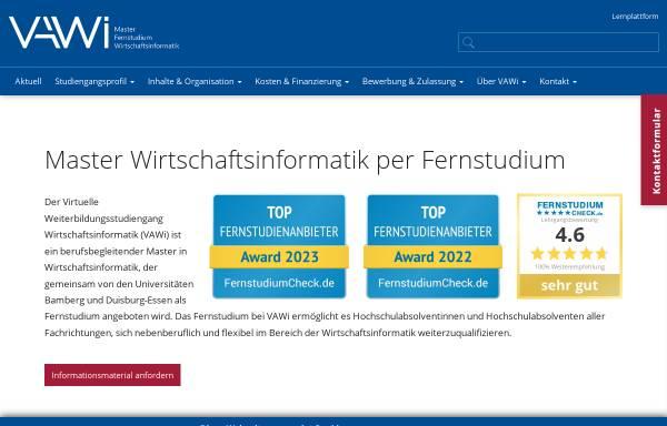 Vorschau von www.vawi.de, Universitäten Duisburg-Essen, Bamberg und Erlangen-Nürnberg