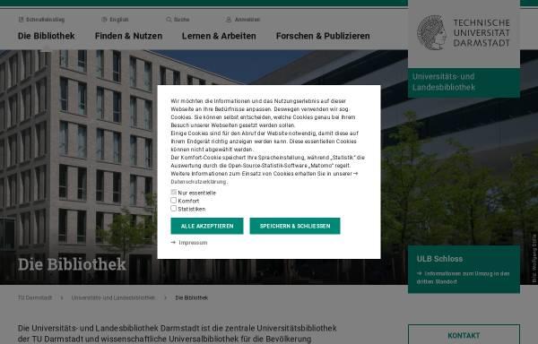 Vorschau von www.ulb.tu-darmstadt.de, Universitäts- und Landesbibliothek Darmstadt