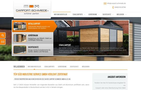 Vorschau von www.carport-schmiede.de, Carport-Schmiede GmbH & Co. KG