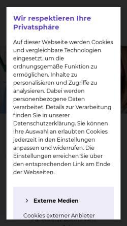Vorschau der mobilen Webseite www.klinikum-braunschweig.de, Städtisches Klinikum Braunschweig