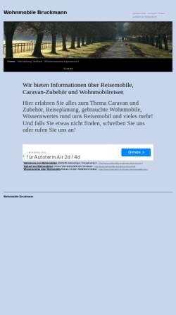 Vorschau der mobilen Webseite www.wohnmobile-bruckmann.de, Bruckmann Wohnmobile