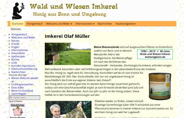 Vorschau von www.biohonigbonn.de, Wald und Wiesen Imkerei Müller