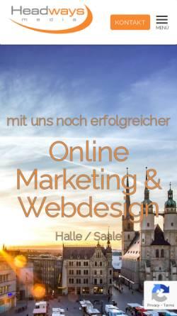 Vorschau der mobilen Webseite www.headways.de, Headways SEO Consulting