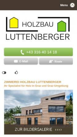 Vorschau der mobilen Webseite www.zimmerei-luttenberger.at, Zimmerei Luttenberger u. Co KG