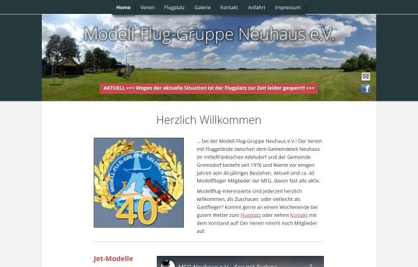 Vorschau von www.mfg-neuhaus.de, Modell-Flug-Gruppe Neuhaus e.V.