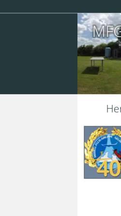 Vorschau der mobilen Webseite www.mfg-neuhaus.de, Modell-Flug-Gruppe Neuhaus e.V.