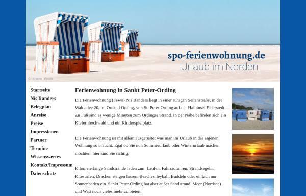 Vorschau von www.spo-ferienwohnung.de, Familie Runge