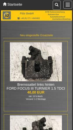 Vorschau der mobilen Webseite www.avw-autoverwertung.de, AVW - Autoverwertung Wolf Strotherm GmbH