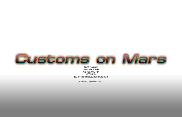 Vorschau von www.customsonmars.com, Customs on Mars