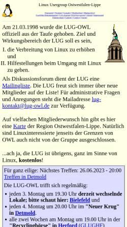 Vorschau der mobilen Webseite lug-owl.de, Linux Usergroup Ostwestfalen-Lippe (LUG-OWL)