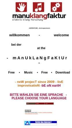Vorschau der mobilen Webseite www.manuklangfaktur.de, Manuklangfaktur