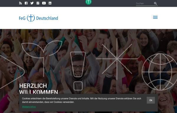 Vorschau von www.feg.de, Bund Freier evangelischer Gemeinden in Deutschland K.d.ö.R.