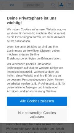 Vorschau der mobilen Webseite www.ifun.de, iFun.de