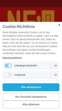 Vorschau der mobilen Webseite neomuzic.de, ne:omuzic