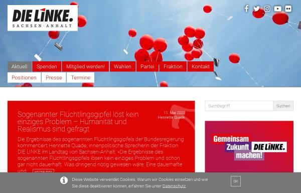 Vorschau von www.dielinke-sachsen-anhalt.de, Die Linke. Sachsen-Anhalt
