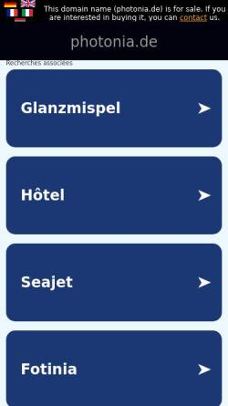 Vorschau der mobilen Webseite www.photonia.de, Photonia