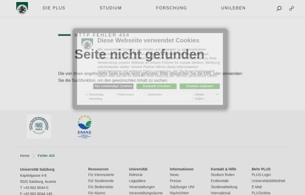 Vorschau von www.uni-salzburg.at, GENDUP -Zentrum für Frauen- und Geschlechterforschung