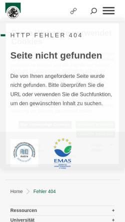 Vorschau der mobilen Webseite www.uni-salzburg.at, GENDUP -Zentrum für Frauen- und Geschlechterforschung