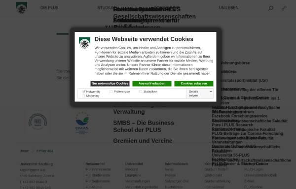 Vorschau von www.uni-salzburg.at, Institut für Slawistik