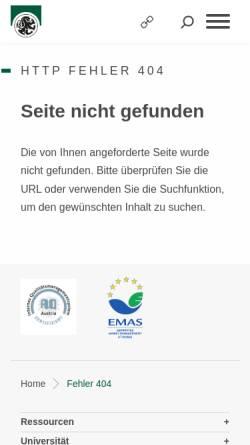 Vorschau der mobilen Webseite www.uni-salzburg.at, Institut für Slawistik