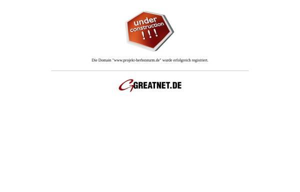 Vorschau von www.projekt-herbststurm.de, Projekt Herbststurm