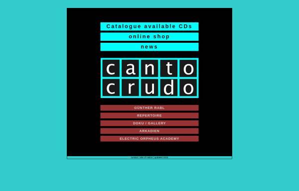 Vorschau von www.canto-crudo.at, Rabl, Günther
