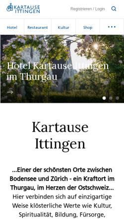Vorschau der mobilen Webseite www.kartause.ch, Karthause Ittingen-Warth
