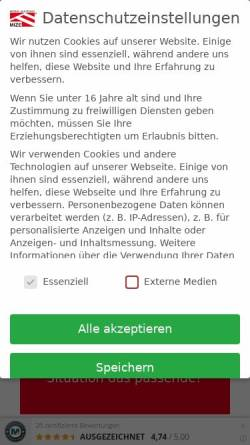 Vorschau der mobilen Webseite www.mize.de, Zeltverleih Mize e.K.