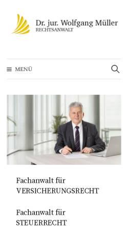 Vorschau der mobilen Webseite www.rechtsanwalt-dr-mueller.de, Rechtsanwalt Dr. jur. Wolfgang Müller