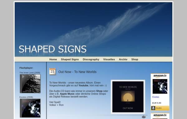 Vorschau von www.shaped-signs.com, Shaped Signs