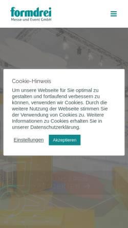 Vorschau der mobilen Webseite www.formdrei.de, Formdrei Messedesign und mehr GmbH